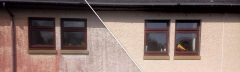 House wall Render Cleaning Services in Giffnock